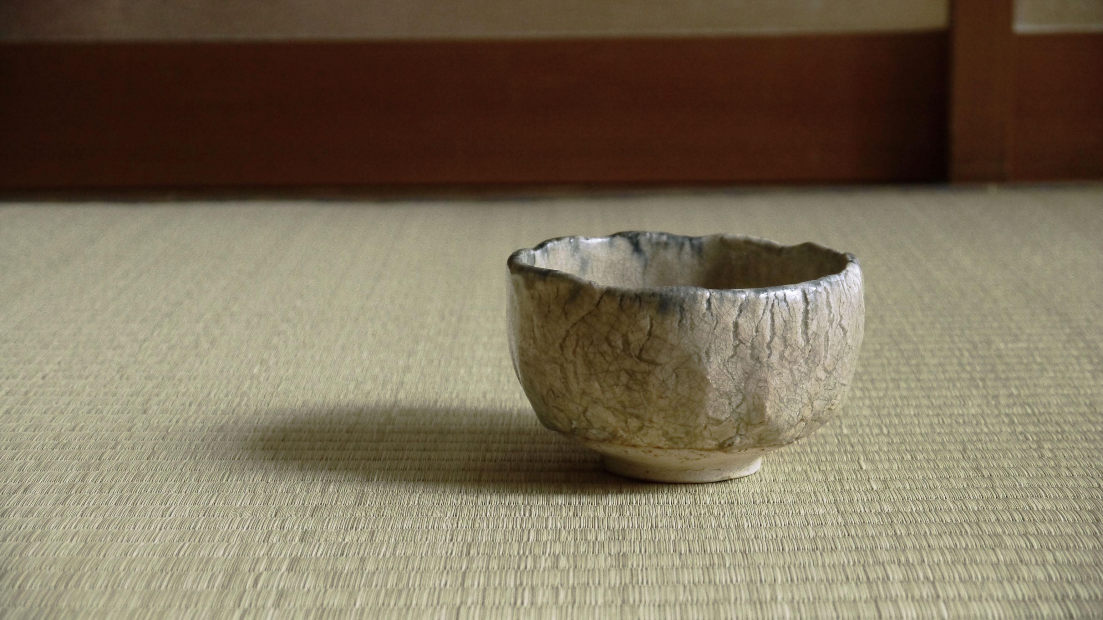 Historische Ofuke-Matchaschale angefertigt von der 10. Generation der Familie Kato